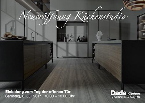 Neueroffnung Kuchenstudio Davinci Interior Design Ag
